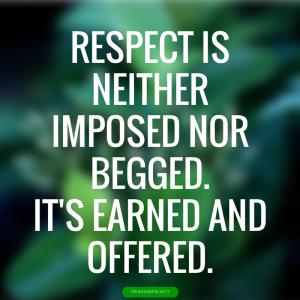 RESPECT QUOTE.