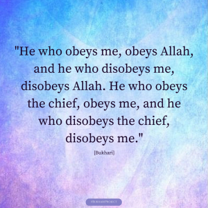 Obedience.