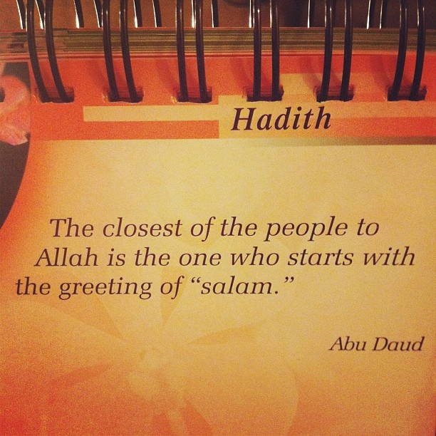 Image result for salaam hadith